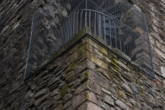 Spiral stairs at Dundonald Castle